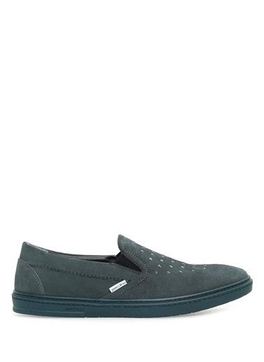 Jimmy Choo %100 Deri Loafer Ayakkabı Mavi